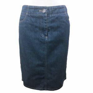 Ann Taylor Classic Denim Skirt Medium Wash